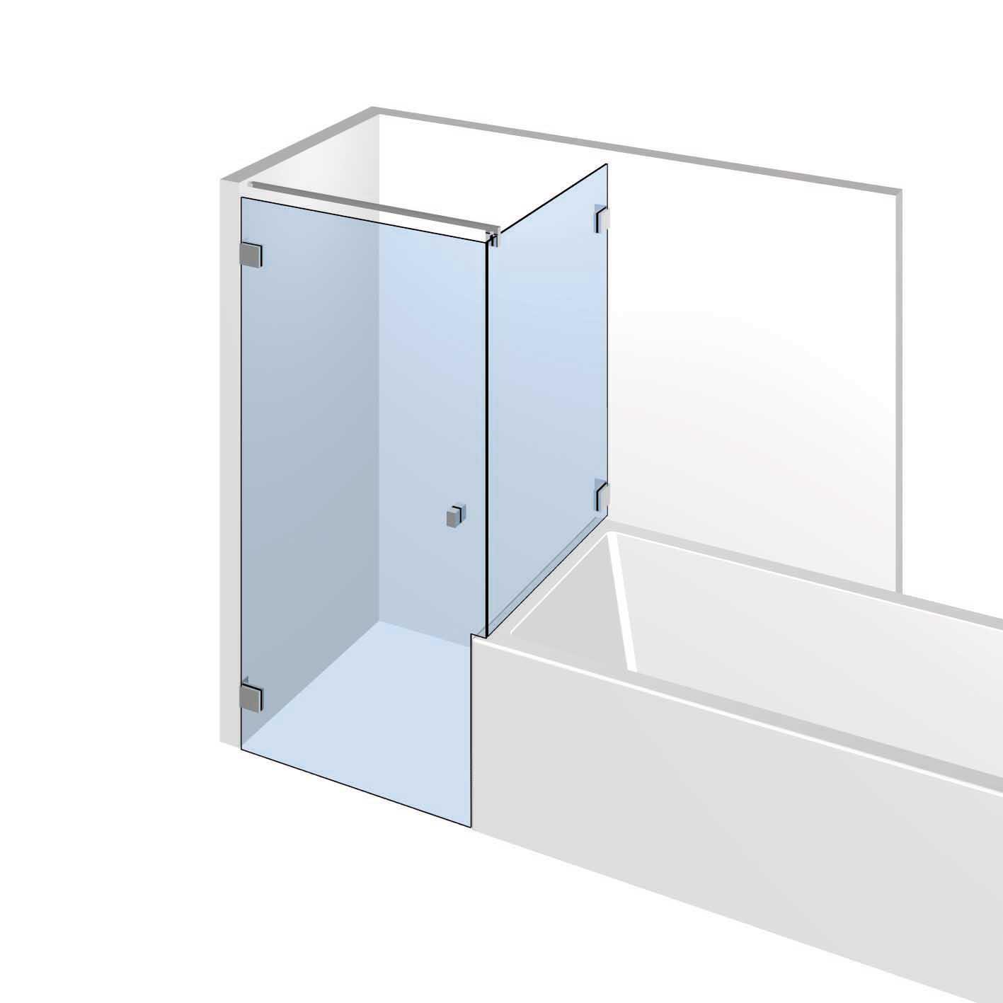 Badewanne-trennwand von Glastechnik-Berlin. Badewanne-trennwand ...