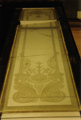 To reconstruct glass plate with step etching.